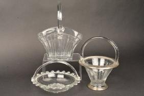 (3) Heisey Baskets - Lariat, Recessed Panel