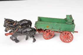 Arcade McCormick Deering Cast Iron Horse Drawn Toy