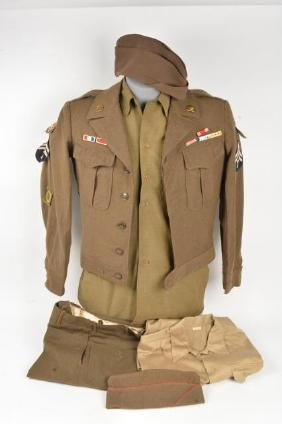 Army Jacket, Field Trousers, Caps, Pins
