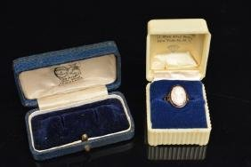 10K Yellow Gold Cameo Ring in Vint. Adv. Box