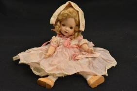 Antique Bisque Socket Head Doll Open Close Eyes