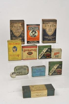 (12) Adv. Tins (Tobacco, Spice & Pharmacy)