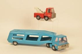 Buddy-L Pressed Steel Tow Truck & Carrier