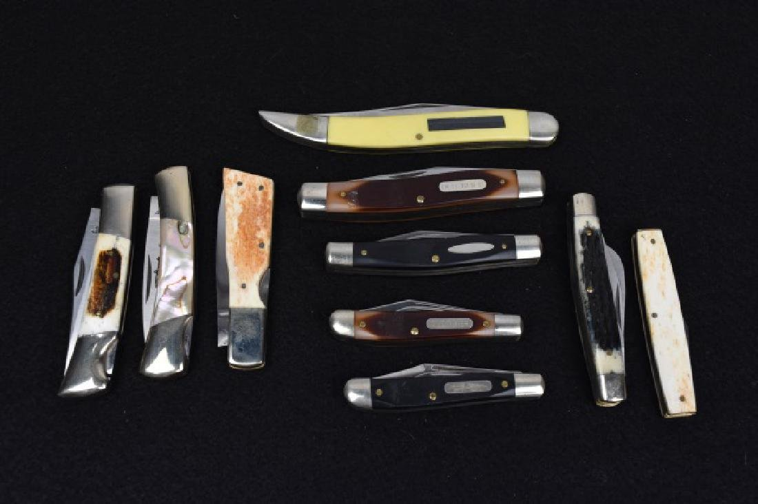(10) Pocket Knives - Frost Cutlery, Schrade