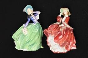 (2) Royal Doulton Lady Figurines, Made in England
