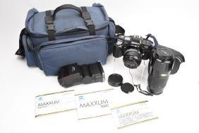 Minolta Maxxum 7000 35mm Camera W/ Lenses & Acces.