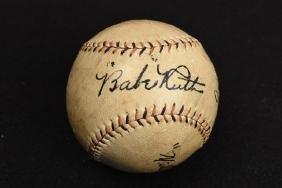 Babe Ruth Signed American League Wilson Baseball