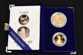1 oz. & 1/2 oz Gold American Eagle Coins 1987