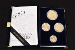 (4) 1994 Proof Gold American Eagle Coins