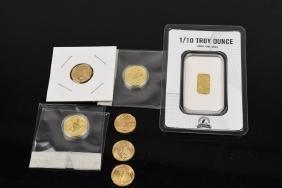 (7) 1/10 oz. Gold Each Bullion