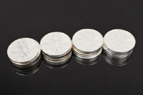 (20) American Eagle Silver Dollars, Various Dates
