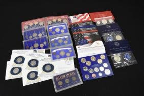 Large Lot Uncirculated & Silver Coins