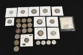 Barber Quarter, Barber & Mercury Dimes, V-Nickels