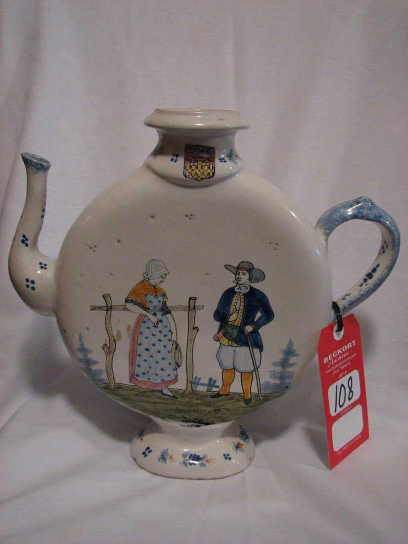 108: Flat-Sided Quimper Pitcher