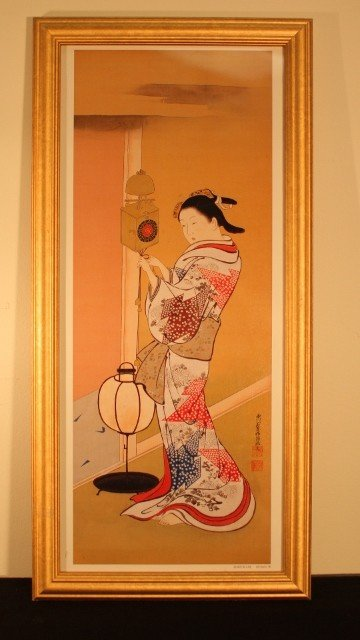 2: framed gisha woman touching clock