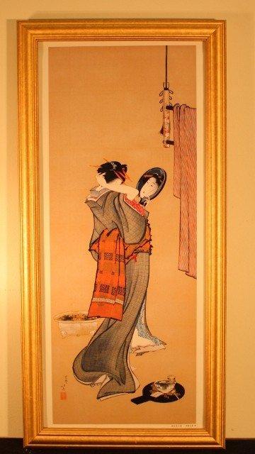 5: framed geisha woman looking in mirror