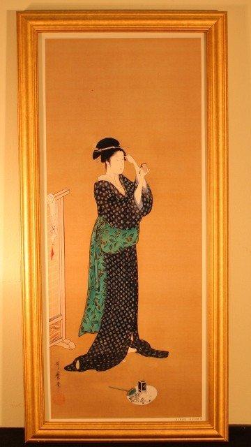 8: framed geisha woman