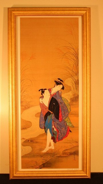 9: framed man and geisha woman