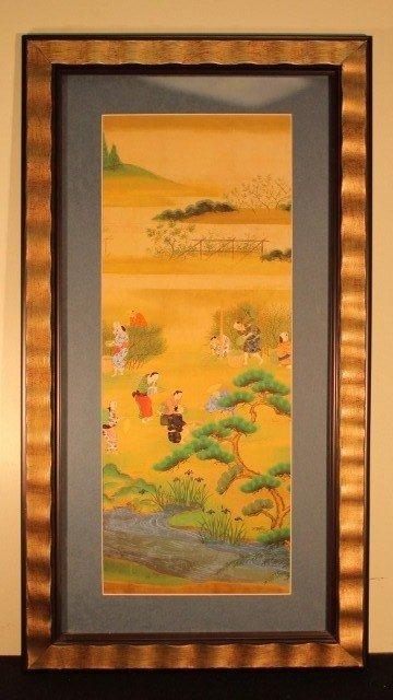 11: 10 geisha people by a creek