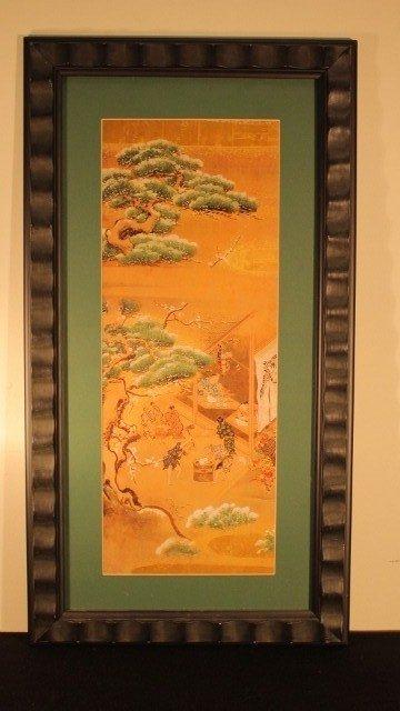 13: framed blk,15x29 10 japanese  2 dancing