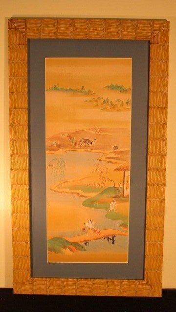 23: framed block 8 japanese and 1 bull