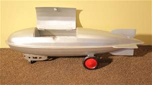 245: Goodyear Blimp (vintage metal toy)