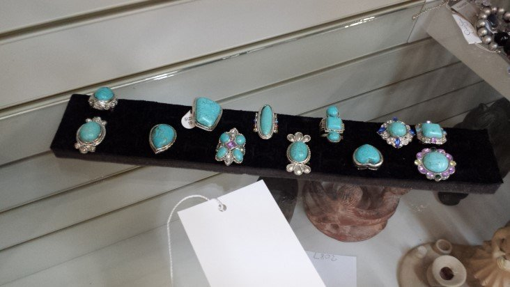 12 Turquoise Rings