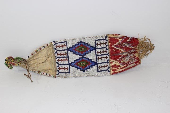 Native American Hand Sewn Tobacco Pouch