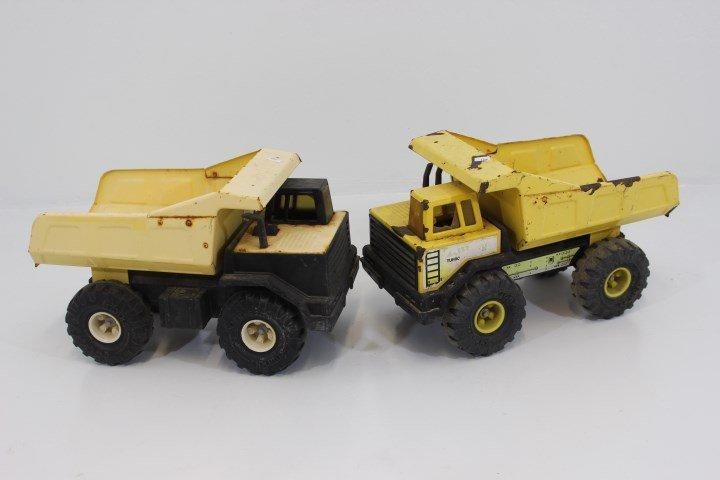 Two Vintage Tonka Steel Dump Trucks