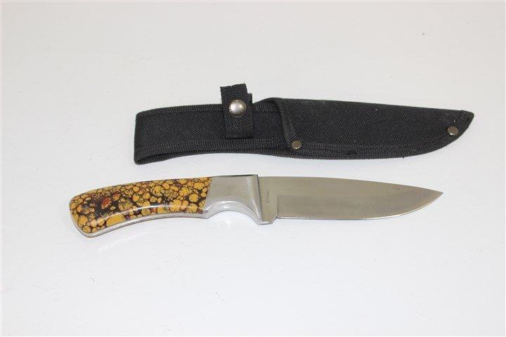 Stone handle knife with sheathe
