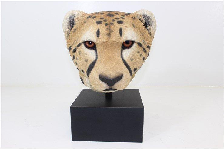 RARE Large Sandicast Cheetah Head