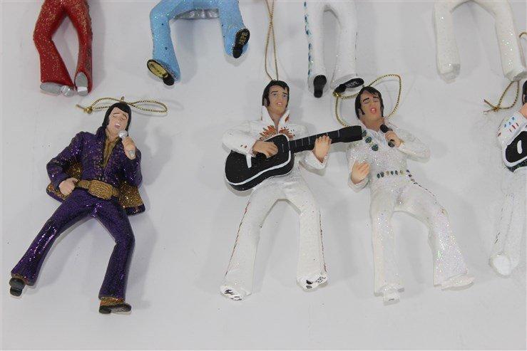 14 Ceramic Elvis Christmas Ornaments - 3