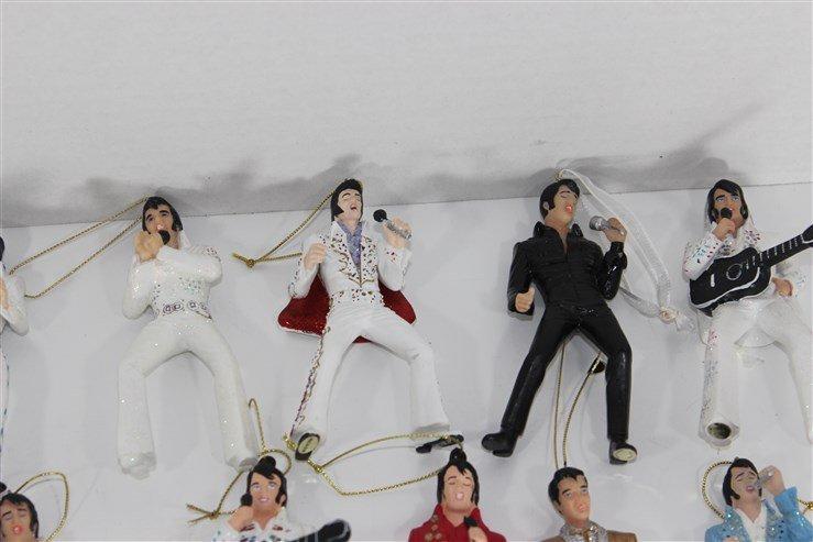 14 Ceramic Elvis Christmas Ornaments - 4