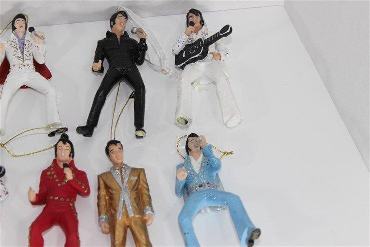14 Ceramic Elvis Christmas Ornaments - 6