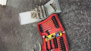 Lot of Screw Bits Drill Bits Hole punches