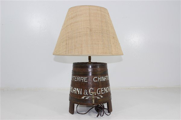 Italian Wine Keg Lamp