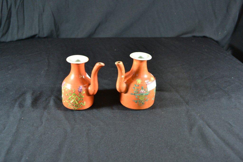 117: pair of chinese wine jars