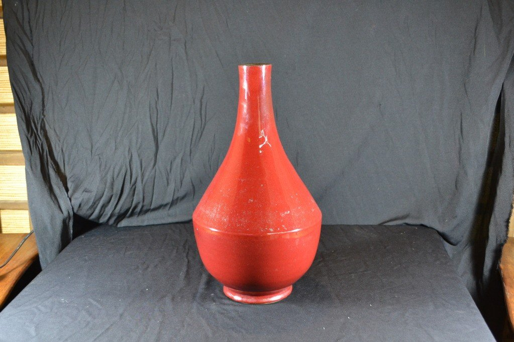 125: chinese pigeon blood vase