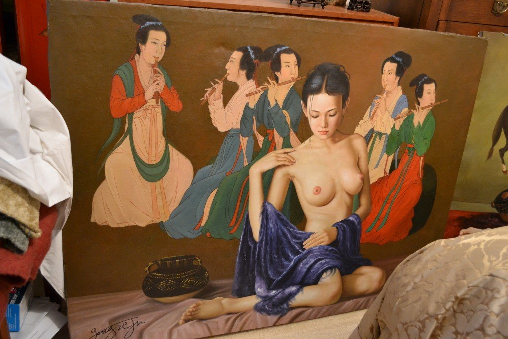 256: Beautiful oil painting by Chinese artist