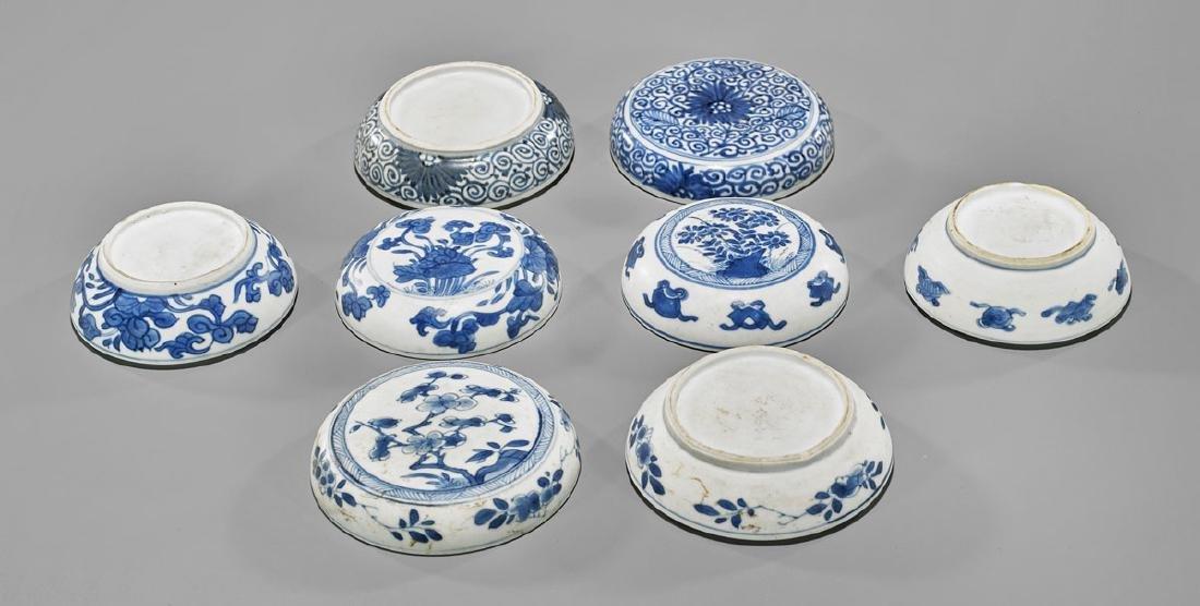 FOUR ANTIQUE BLUE & WHITE SHIPWRECK PORCELAIN BOXES - 2