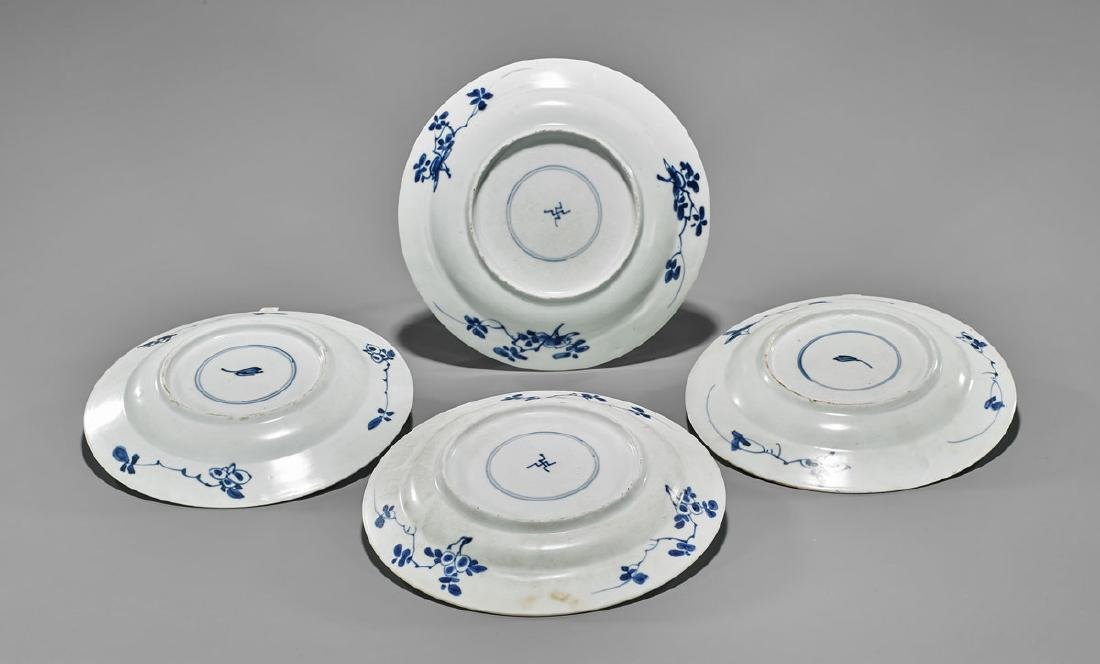 FOUR ANTIQUE BLUE & WHITE SHIPWRECK PORCELAIN DISHES - 2