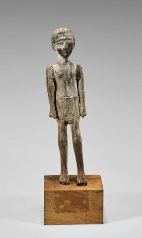 EGYPTIAN JOINTED WOOD FIGURE