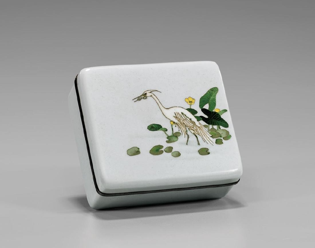 OLD JAPANESE ANDO CLOISONNÉ ENAMEL BOX