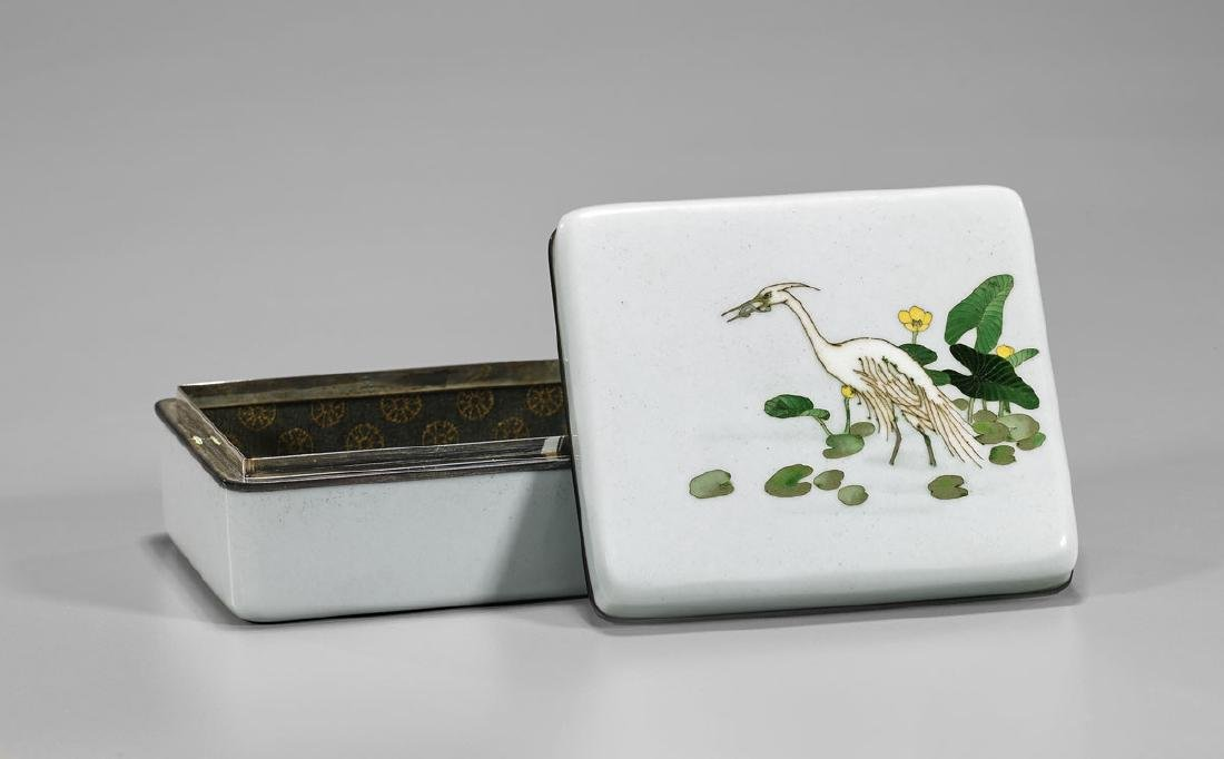 OLD JAPANESE ANDO CLOISONNÉ ENAMEL BOX - 2