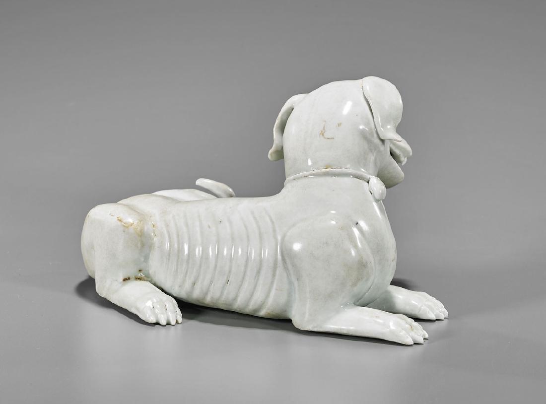 KANGXI PERIOD YINGQING GLAZED DOG - 2