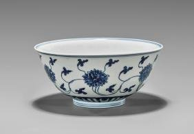 KANGXI PERIOD BLUE & WHITE PORCELAIN BOWL