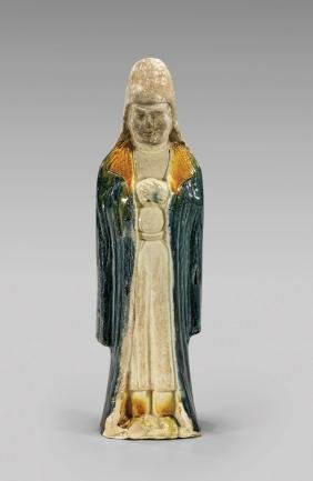 TANG DYNASTY POTTERY FIGURE