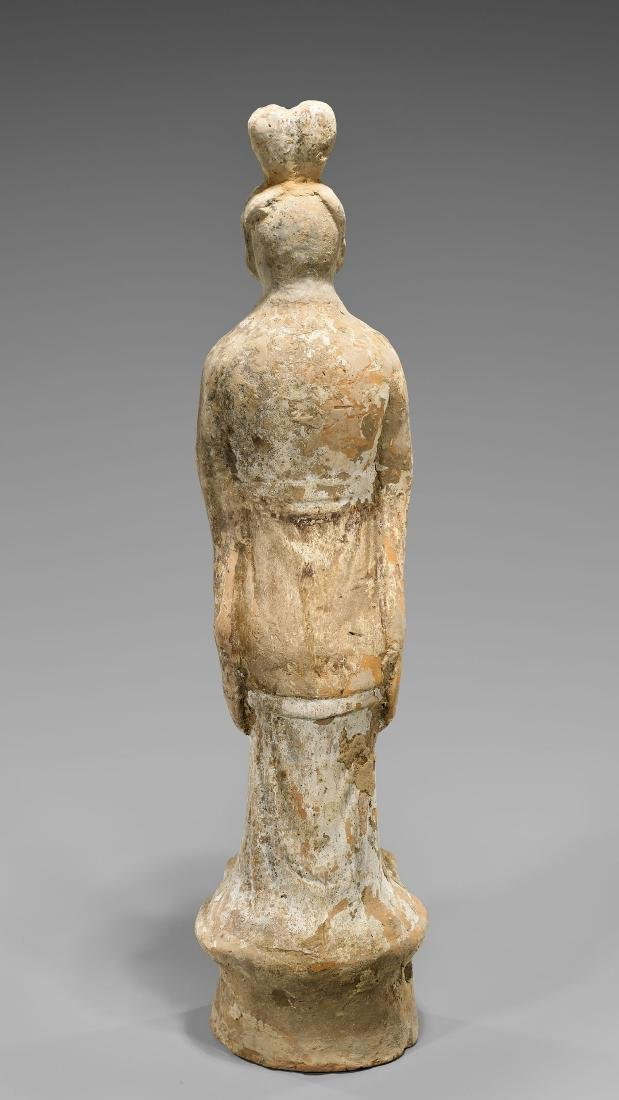 TALL SUI DYNASTY POTTERY FIGURE - 2