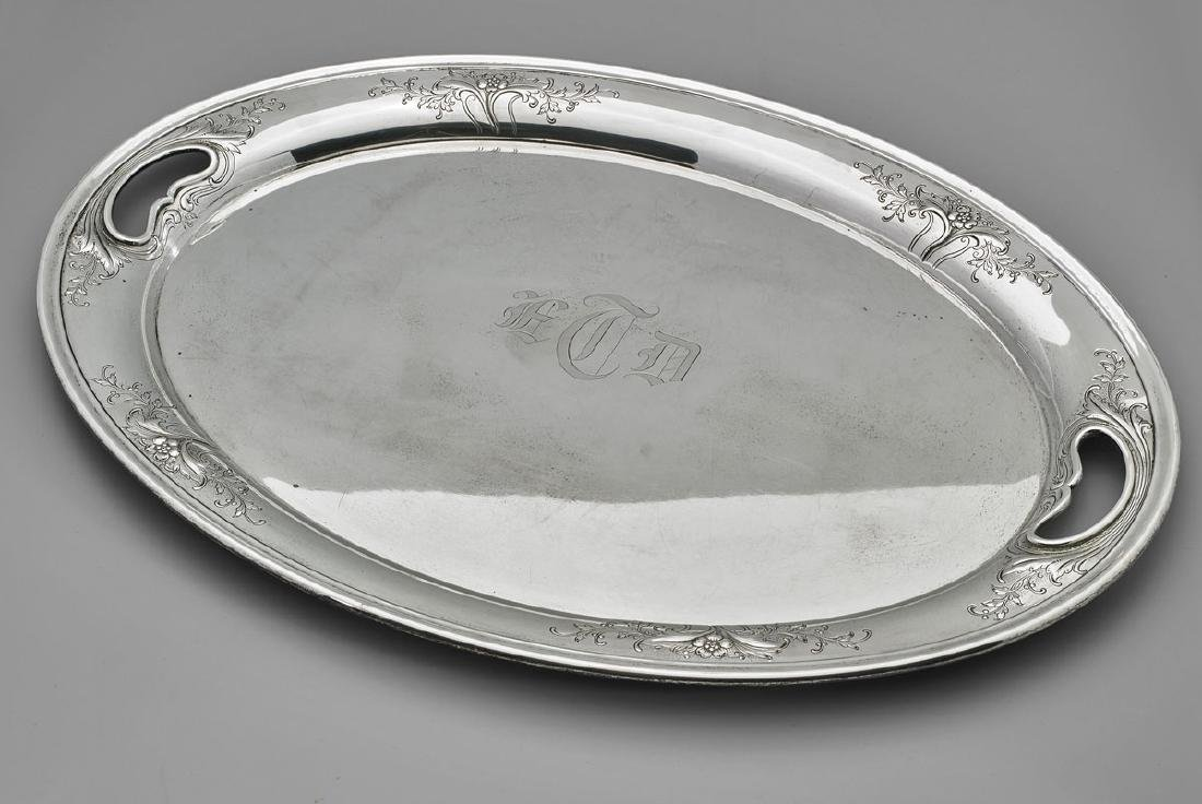 AMERICAN STERLING SILVER TRAY BY ALVIN: Chateau Rose - 2