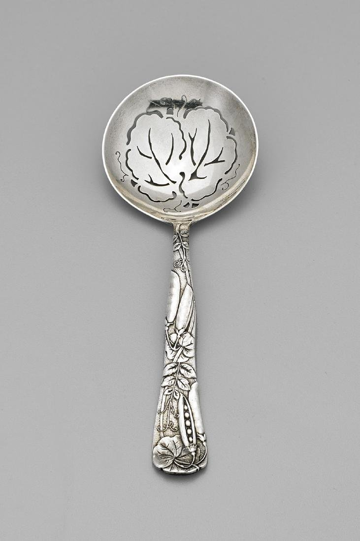 VINTAGE TIFFANY & CO. STERLING SERVING SPOON: Peapod
